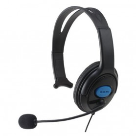 Gaming Headset 3.5mm single headphone with microphone wired for Sony PS4