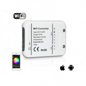 Oem - DC12V-24V Wifi LED Controller RGB/RGBW/RGBWW Strip 16 Million Colors Music and Timer Mode Wifi Control by IOS/Android S...