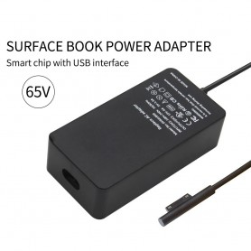 Oem - 15V 4A 65W AC adapter for Microsoft Surface PRO 3/4/5/6/7 + 5V 1A USB-port - Laptop chargers - AL552-CB
