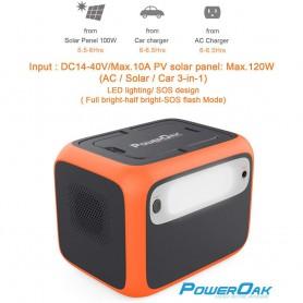 PowerOak - PowerOak PS6 500Wh solar AC/DC generator - Energy storage - EU-AC50S
