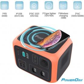 PowerOak - PowerOak PS6 500Wh solar AC/DC generator - Energy storage - PON-PS6