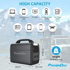 PowerOak - PowerOak PS7 1.000Wh solar AC/DC generator - Energy storage - PON-PS7