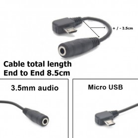 Oem - Micro USB Male to Audio 3.5mm Female cable adapter - Audio adapters - AL189
