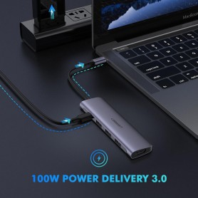 UGREEN - 5in1 USB-C PD C Type USB C to 4K HDMI USB-C 3x USB 3.0 - USB adapters - UG-50209