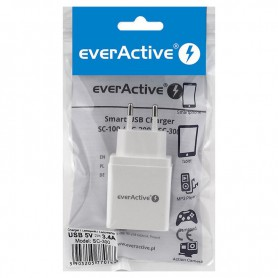 EverActive - EverActive 3xUSB 5V / 2.4A (3.4A max) AC charger - Ac charger - BL328