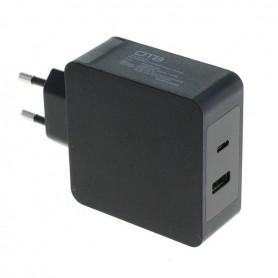 Fast Charging USB DUAL (USB-C + USB-A ) with USB-PD - 57W