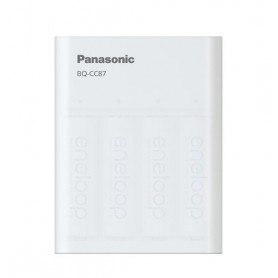Eneloop - 2.25h Panasonic Eneloop USB Charger Powerbank BQ-CC87 + 4x AA 2000mAh batteries - Battery chargers - BL333