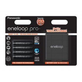 AAA R3 Panasonic Eneloop PRO Rechargeable Batteries + Free storage box