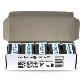 EverActive - 10x everActive PRO 6LR61 6LF22 E-Block 9V 550mAh alkaline batteries - Other formats - BL339