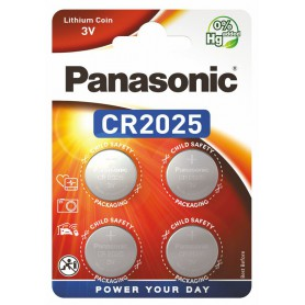 4-Pack Panasonic CR2025 3V 165mAh Lithium button cell battery