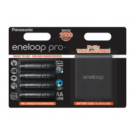 Panasonic eneloop PRO AA R6 2500mAh 1.2V Rechargeable Battery + Free storage / travel box