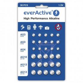 30x everActive PACK AG3 / AG4 / AG10 / AG13 Alkaline