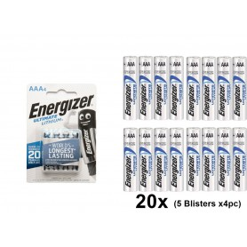 Energizer - AAA L92 Energizer Ultimate Lithium 1250mAh 1.5V - Size AAA - NK429-CB