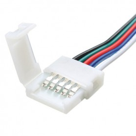 NedRo - 10mm 5-Pin Click-On RGBW RGBWW LED Strip connector - LED connectors - LSCC61