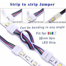 Oem - 10mm 5-Pin Click-On RGBW RGBWW LED Strip connector - LED connectors - LSCC61