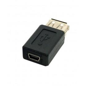 USB A Female to Mini USB Female Adapter