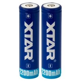XTAR - Xtar 2200mAh 3.7V 18650 PCB PROTECTED battery - Size 18650 - NK481