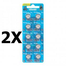 Vinnic - Vinnic G13 / AG13 / L1154 / LR44 / 157 / A76 1.5V button cell battery - Button cells - NK399-CB