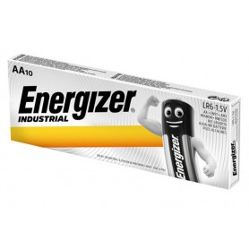 Duracell - 10 x Energizer industrial AA/LR6 1.5V alkaline battery - Size AA - NK448