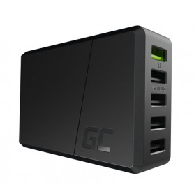 Green Cell - 52W 5xUSB ChargeSource 5 Ultra Charge and Smart Charge - Ac charger - GC090