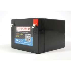 Enerpower - Enerpower 12.8V 8Ah - LiFePo4 F1 - 4.8mm (replacement of lead battery) - LiFePO4 battery - NK498