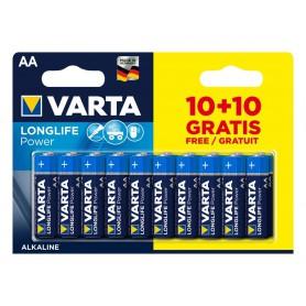 10 + 10 FREE VARTA Longlife Power Alkaline batteries AA / LR6 (Mignon) 1.5V 2950 mAh