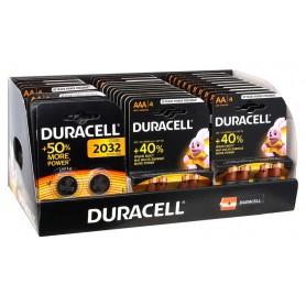 Duracell - Duracell Basic POWERPACK 80x AA +40x AAA + 14x CR2032 + FREE Rabbit mascot - Size AA - BL361