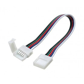Oem - 12mm 5 Pin RGBW RGBWW LED Click to Click 15cm Connector Cable Wire - LED connectors - LSCCW64