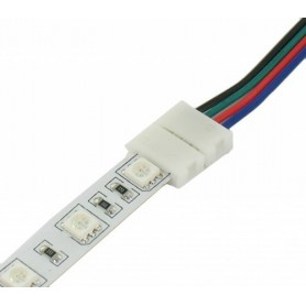 NedRo - 10mm 4 Pin RGB LED Click to Click 15cm Connector Cable Wire - LED connectors - LSCC06