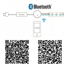 NedRo - Bluetooth Controller 12V-24V Music WiFi Controller RGB RGBW LED Strip - LED Accessories - LCR93