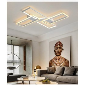 NedRo - 128W 4S-120x80x6 LED Ceiling light - Warm white - Ceiling lamps - AL231-CB