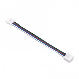 Oem - 10mm 5 Pin RGBW RGBWW LED Click to Click 15cm Connector Cable Wire - LED connectors - LSCCW63