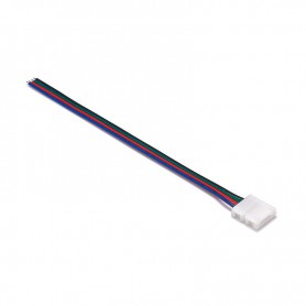Oem - 10mm 4 Pin RGB LED Click to Wire 15cm Connector Cable Wire - LED connectors - LSCC03