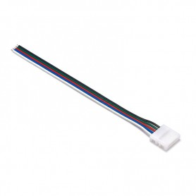 NedRo - 12mm 5 Pin RGBW RGBWW LED Click to Wire 15cm Connector Cable Wire - LED connectors - LSCC62