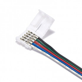Oem - 12mm 5 Pin RGBW RGBWW LED Click to Wire 15cm Connector Cable Wire - LED connectors - LSCC62