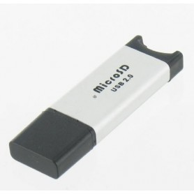 NedRo - Micro SD USB reader-writer silver microSD, MicroSDHC, T-Flash, Micro MMC - SD and USB Memory - YPU210 www.NedRo.us