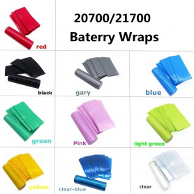 NedRo - 50 Pieces 20700/21700 Battery PVC Heat Shrink Tubing Tube Wrap - Battery accessories - NK503-CB
