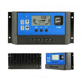 unbranded - 40A DC 12V - 24V PWM Solar charge controller with LCD and 5V USB - Solar controller - AL130-40A
