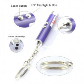 Oem, 2in1 Led Laser Pointer Keychain LED Light, Flashlights, AL1109-CB