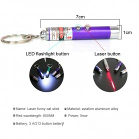 unbranded, 2in1 Led Laser Pointer Keychain LED Light, Flashlights, AL1109-CB