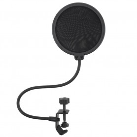 Oem - Double layer studio microphone Pop-filter flexible windscreen Mic-shield for recording - 100mm - Various computer acces...