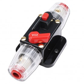 Oem, 20A 12V-24V Inline Circuit Breaker Manual Reset Switch Fuse, Fuses, AL1021-20A