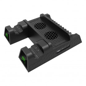 DOBE, Duo Charging Cooling Stand + 2 batteries for XBOX One One X and One S, Xbox One, AL1119-XB1