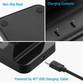DOBE, Duo Charging Stand + 2 batteries for XBOX One One X and One S, Xbox One, AL1121-XB1