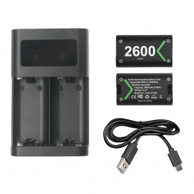 Oem, Charger + 2 2600mAh batteries for XBOX One One X One S Elite, Xbox One, AL1122-XB1