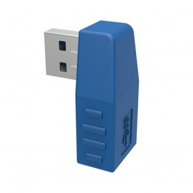 Oem, USB 3.0 Male to USB 3.0 Female Right Angle Adapter, USB adapters, AL1124-RIGHT