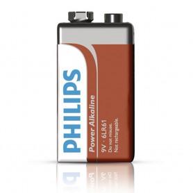 PHILIPS, Philips POWER 9V 6LR61 Alkaline, Other formats, BS496