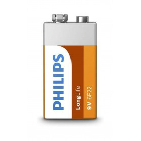 PHILIPS, Philips LongLife Zinc 9V 6F22, Other formats, BS497