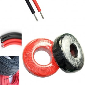 Oem, 4mm2 (12AWG) Solar Wire - Red or Black - 1 Meter, Cabling and connectors, AL250-SOLAR-CB