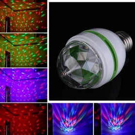Unbranded, 3 Watt E27 bec multicolor cu rotație, LED gadgets, AL002, EtronixCenter.com